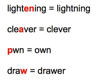 14. common mispellings