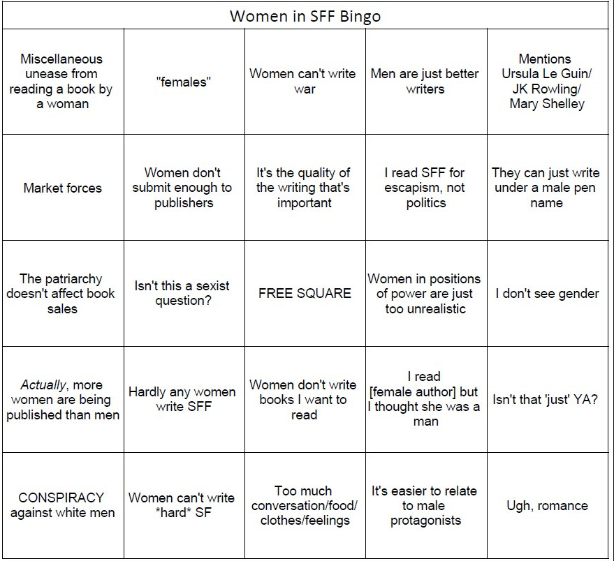 women in sff bingo