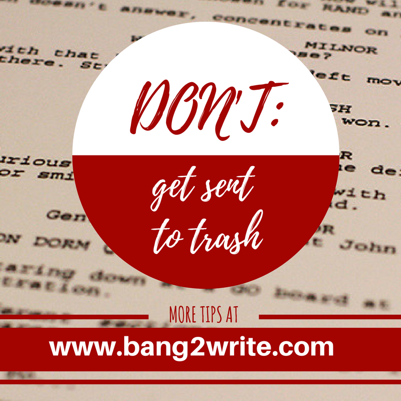 25 Mistakes That Send Your Screenplay To The Trash